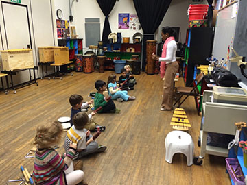 children playingmusic