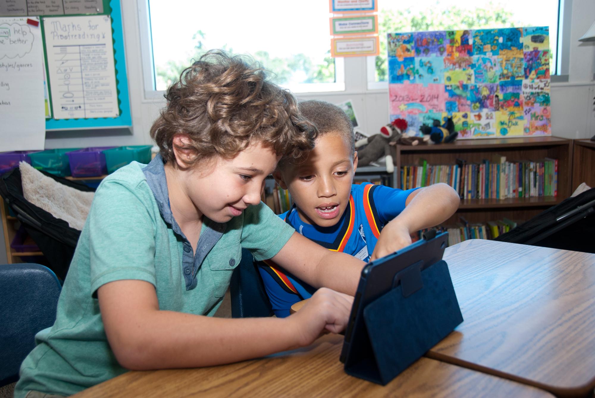 Student with iPad mini